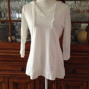 Danskin Now hooded v-neck tee shirt